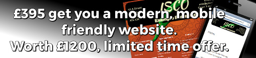 Get a new mobile friendly website for your business. £395 for a website valued at £1200. Limited time offer.